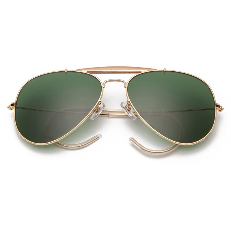 Women Boloban 58mm Lens Sunglasses Mirror Polarized Men UV400 Brand 3030 Classic Glasses Glass Aviation Pilot Gsnwx