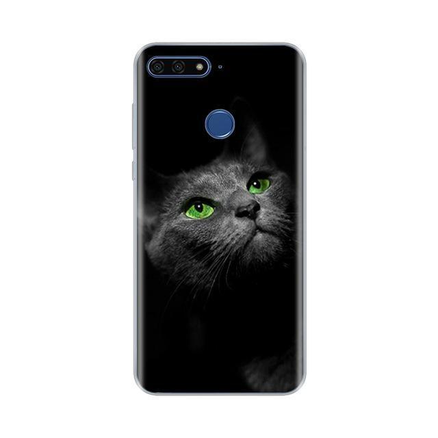 Huawei Honor 7A için Mobil Aksesuarları Cep Telefonu Kılıfları Kapaklar 5.7 inç AUM-L29 Kılıf Yumuşak Silikon TPU Telefon Geri kapağı pro