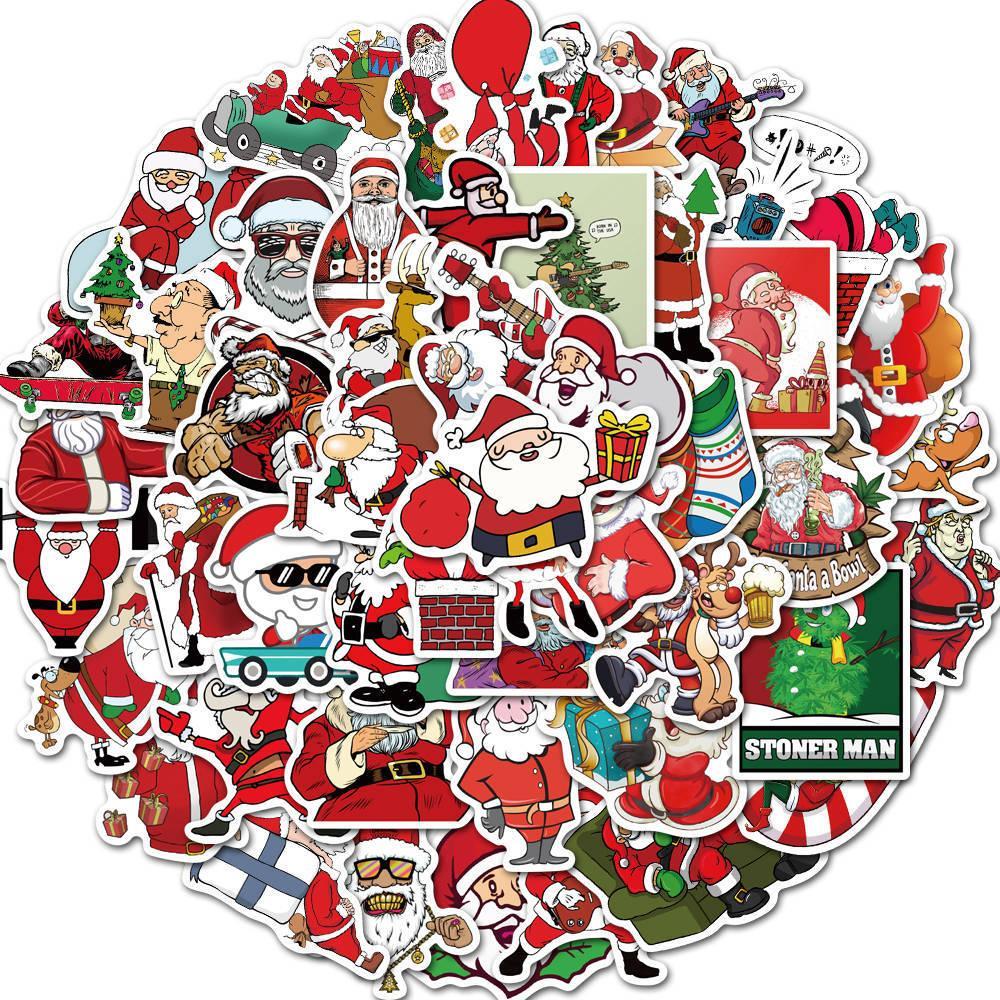 Рождество Хэллоуин Пользовательских наклейки плакаты стены стикеры для комнат Главной Laptop скейтборда Камеры автомобиль Дети DIY мультфильм наклейка партия подарков