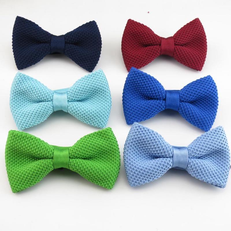 homens gravata borboleta malha arco Laço puro da cor De Los nuevos Hombres de Punto de moda Fumar laços Ajustable