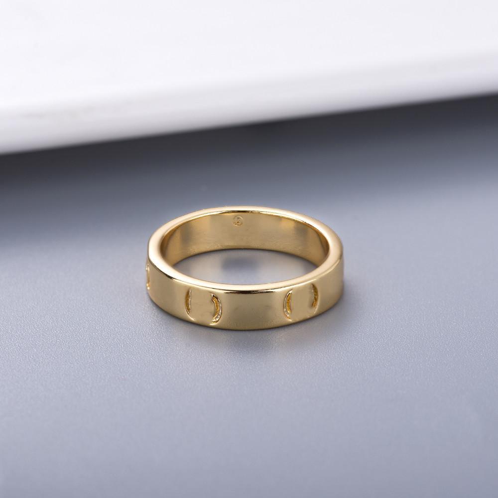 New Style Par de pareja personalidad simple para el anillo de amante Anillo de moda de alta calidad anillos plateados de plata Suministro de joyería