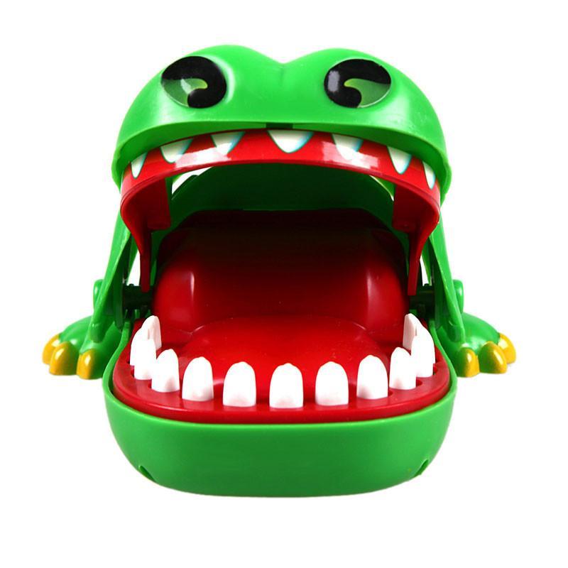 التمساح الكلاسيكية دغة لعب للأطفال طبيب الأسنان لعبة امسكني اللمعان عيون الشر اضحك لعبة أطفال هدايا