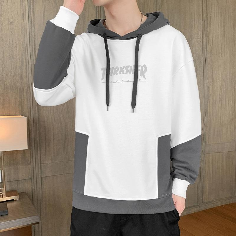 Hooded sweater men's loose Sweatshirt sweatshirt all-match 2020 Autumn new sports top Korean style fashionable casual outer wear clothes YoO
