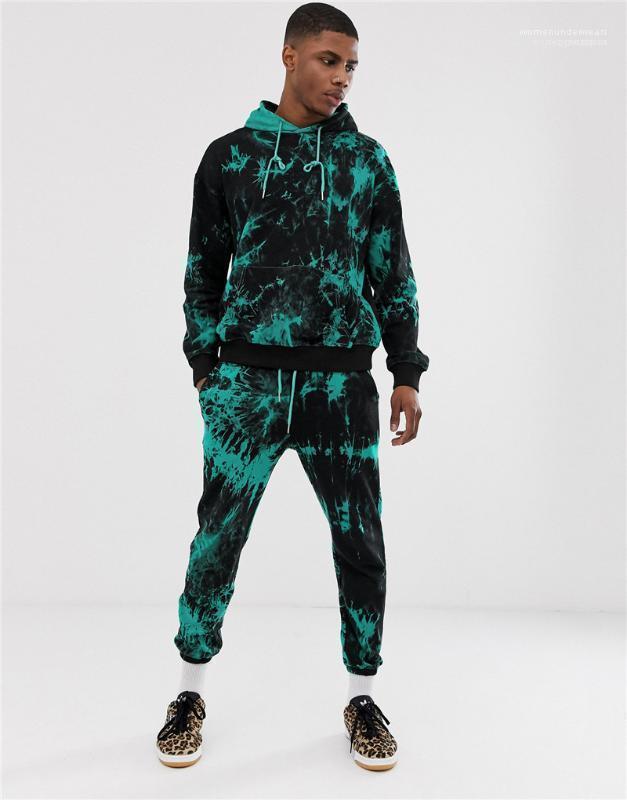 Lässige Kleidung Männer 3D Digital Print Mens Designer Tracksuits Mode-Druck-Langarm-lange Hosen der Männer 2PCS Sets