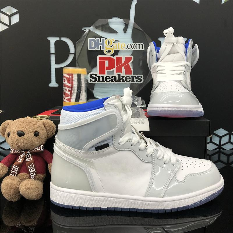 Chegada Nova Jumpman 1 1s alta Obsidian UNC Branco Jogo Real UNC Basketball Shoes Mens quebrado encosto 3.0 Sapatilhas Mens Sports Shoes