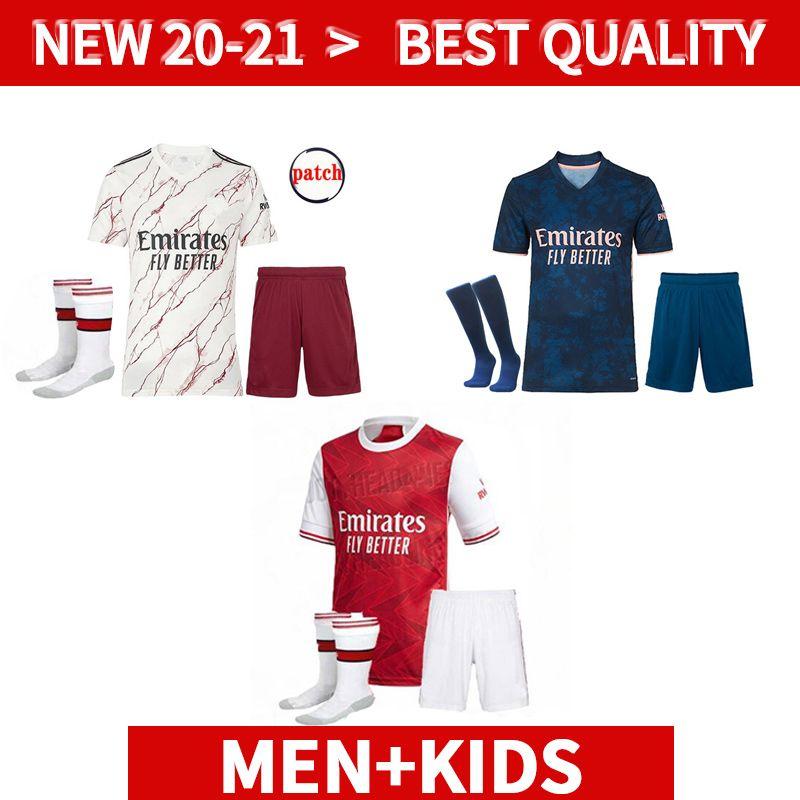 Männer + Kinder Kit Gunner 20 21 Arschfußball Jersey Pepe Nicolas Ceballos Henry Guendouzi Sokratis Tierney 2020 2021 Home Away Dritter Fußball