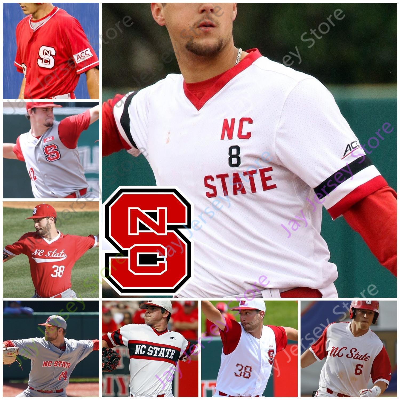 NC Devlet Beyzbol Forması Koleji TREA Turner Luca Tresh Tyler McDonough Devonte Kahverengi Jose Torres Patrick Bailey Nick Swiney David Harrison