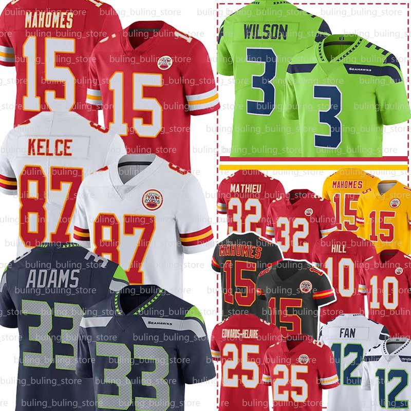 15 Patrick Mahomes Trikots Jamal Adams Russell Wilson Kansas