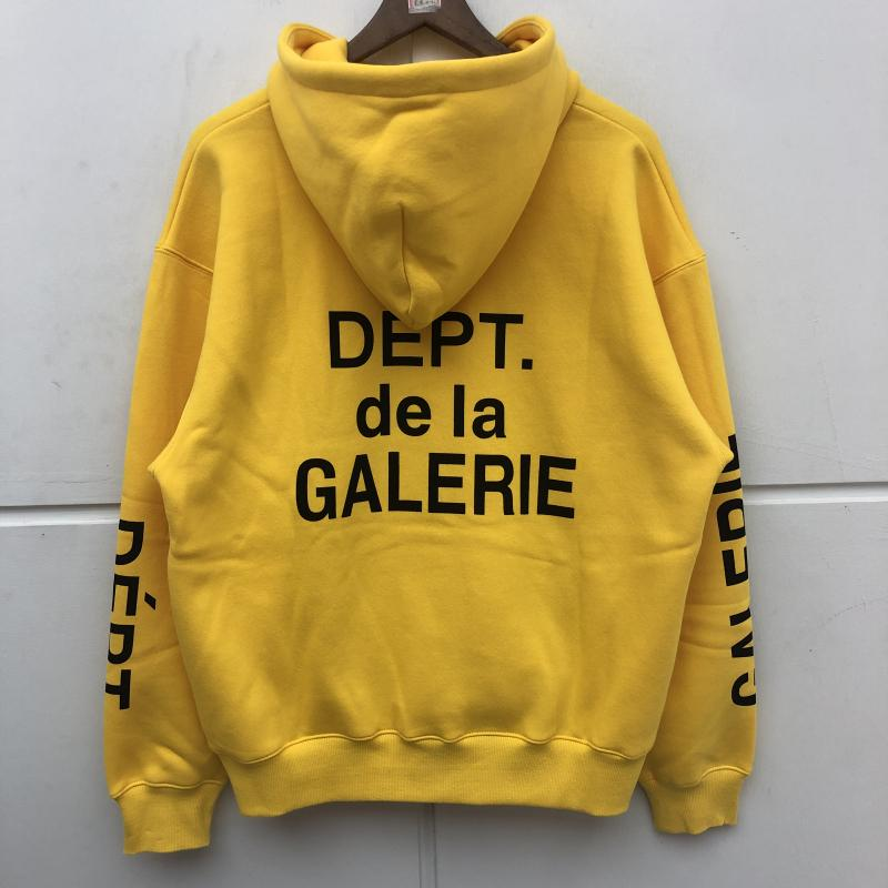 Simple Classic Gallery Dept Sweats à Sweats Hommes Femmes Coton Coton Orange Pullover Best Quality Gallery Dept Sweatshirts