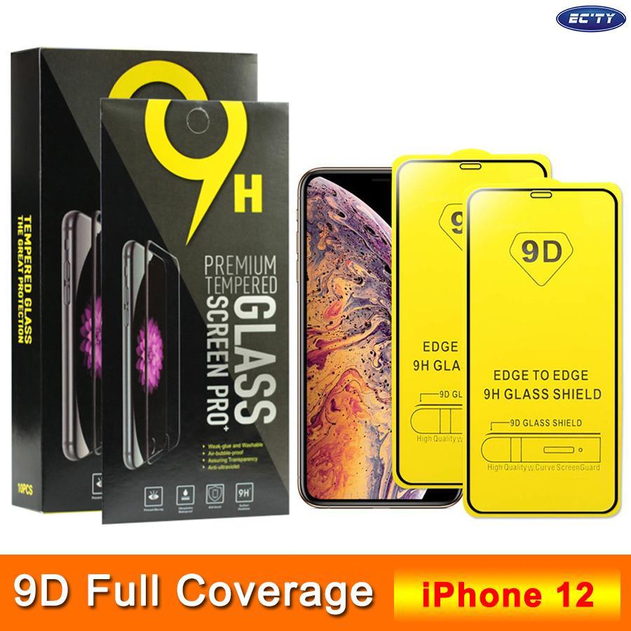 Новое прибытие 9D закаленное стекло для iPhone 12 Anti-Царапины 9Н 0.3mm экран протектор для XR для XS MAX SE 7 8 6 6s Plus Заказ смешивания