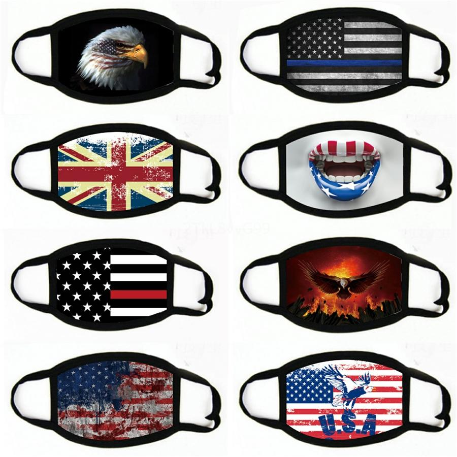 Moda Máscara Facial Máscaras Bandeira respirável à prova de poeira orelha protetor solar revestimento de impressão Bandeira Nacional Máscaras # 405