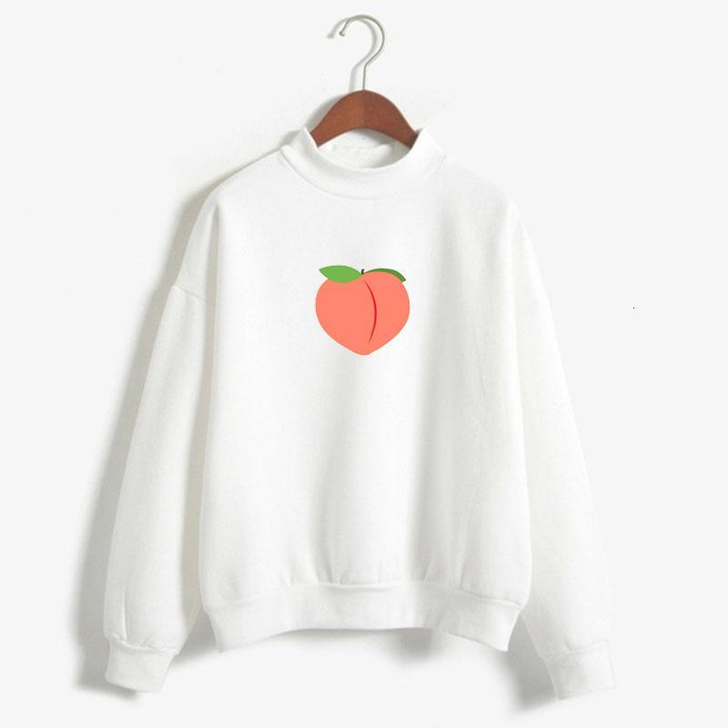 Regalo Ropa de melocotón con capucha del arte del pixel melocotón cartón de la leche unisex con capucha para los adolescentes SEQUIN melocotón con capucha de frutas para la Mujer Pe