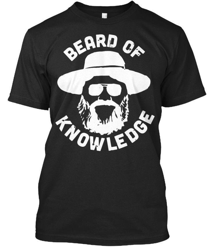 2019 Новое письмо Печать Творческое Printed T-Shirt Борода знаний - Stylisches T-Shirtirish футболки