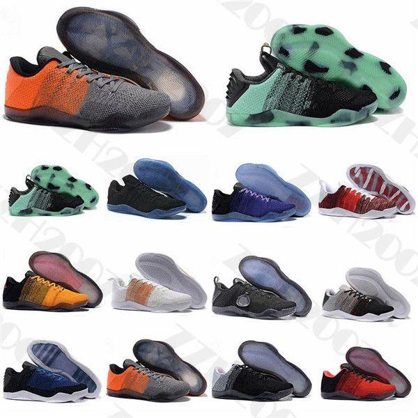 2020 Qualidade Top Quality Mamba 11 Elite Homens Basquete Sapatos Bruce Lee FTB Cavalo Branco Cavalo Vermelho Aquiles Calcanhar 11s Black Sports Designer Sneakers