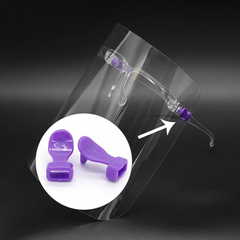 Escudo reutilizável Limpar Face Face Anti-fog Goggle quadro de protecção transparente viseira viseira Cores Pin 6 yxlTt ffshop2001