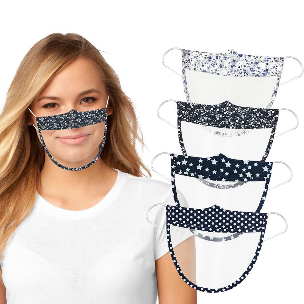 Adulto protectora protetora escudo anti-fog Anti-respingo Anti Gota face da tampa máscara reutilizável lavável Transparente Visual Facemask