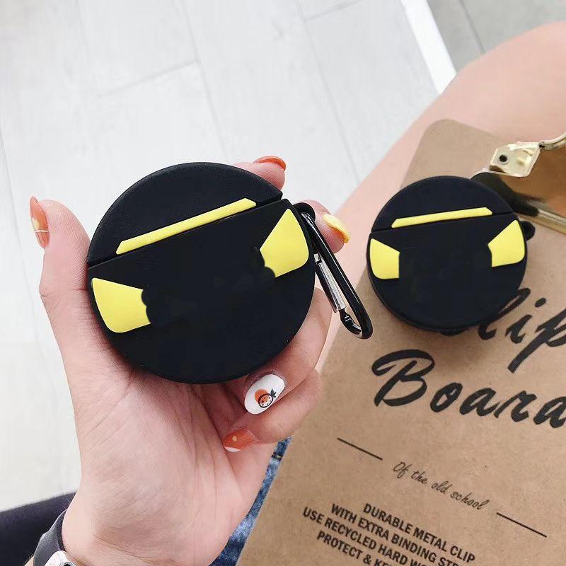 Tendencia de impresión Protección Airpods Caso Airpods1 Moda / 2 Caso inalámbrica Bluetooth Headset de silicona suave Shell mosquetón Anti-caída-