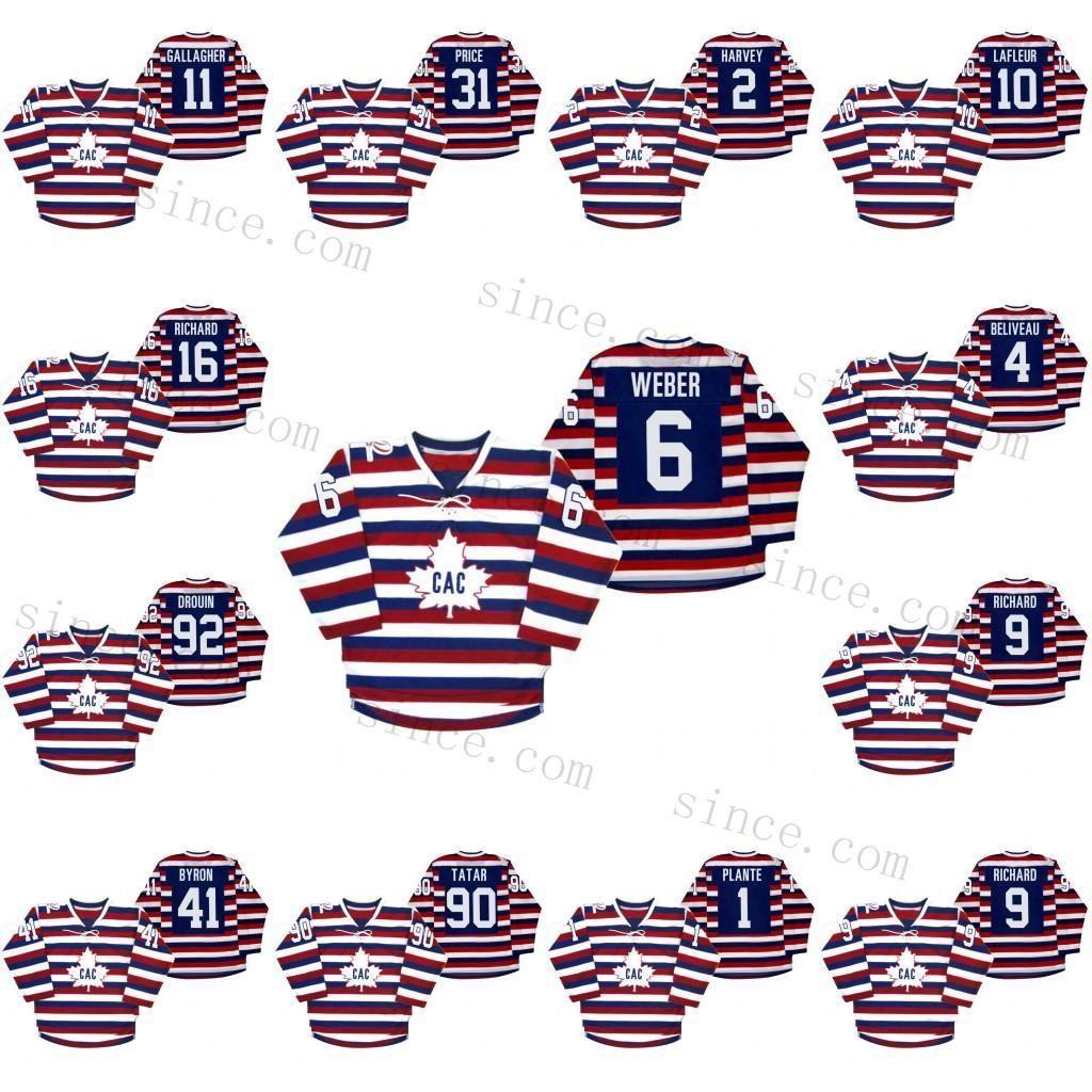Montreal Canadiens Centennial 100th Yıldönümü Brendan Gallagher Jersey Shea Weber Max Domi Carey Fiyat Patrick Roy Drouin Erkekler Kadınlar Çocuklar