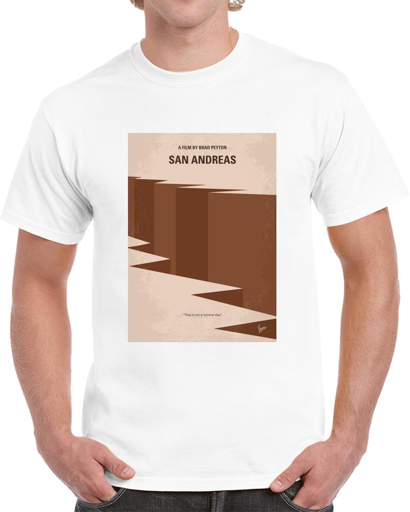 Männer T-Shirt San Andreas Minimalist-Film-Plakat-T-Shirt T-Shirt Frauen-T-Shirt