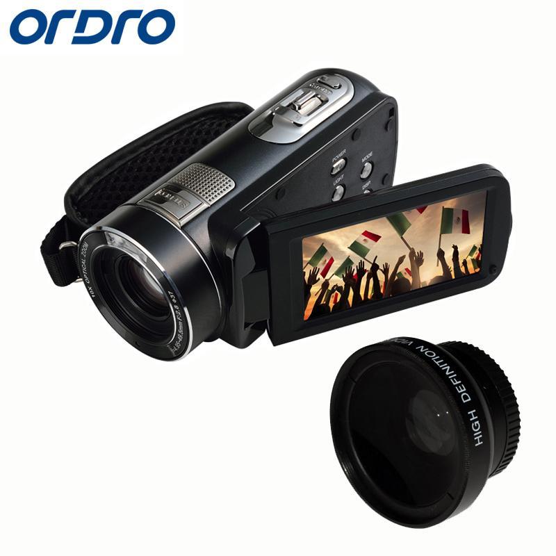 Ordro 10-fach optischen Zoom HD Digital 1080P Video-Kamera-Camcorder-Nachtsicht-120X Digital-Zoom-Fernbedienung Z80 Kostenloser Versand