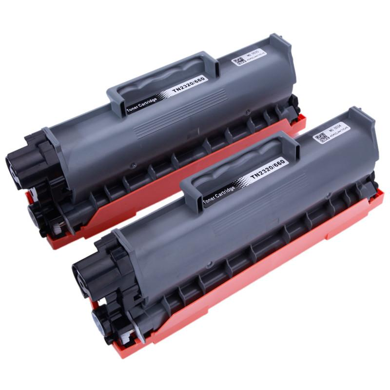 Toner Cartridge for Brother 2pcs TN2320/660 High Quality Prints at Low Cost Ideal for Home or Office