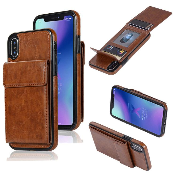 Wholesale Wallet with Photo Frame Credit Card Flip PU Leather Holder Phone Case for iPhone 7PLUS 8 X XR MAX 11 for Samsung