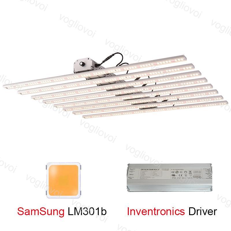 LED Grow Light Barras 480W / 600W / 800W LM301B Chips Quantum Tecnologia Completa Espectrão Estufa Veg e Flor DHL