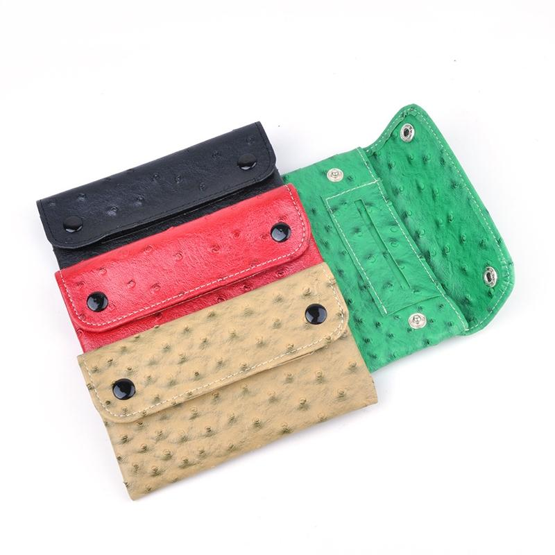 Colorful Cool Portable PU Leather Stash Bag Travel Case Handbag Pouch Dry Herb Tobacco Spices Grinder Preroll Cigarette Smoking Tool DHL