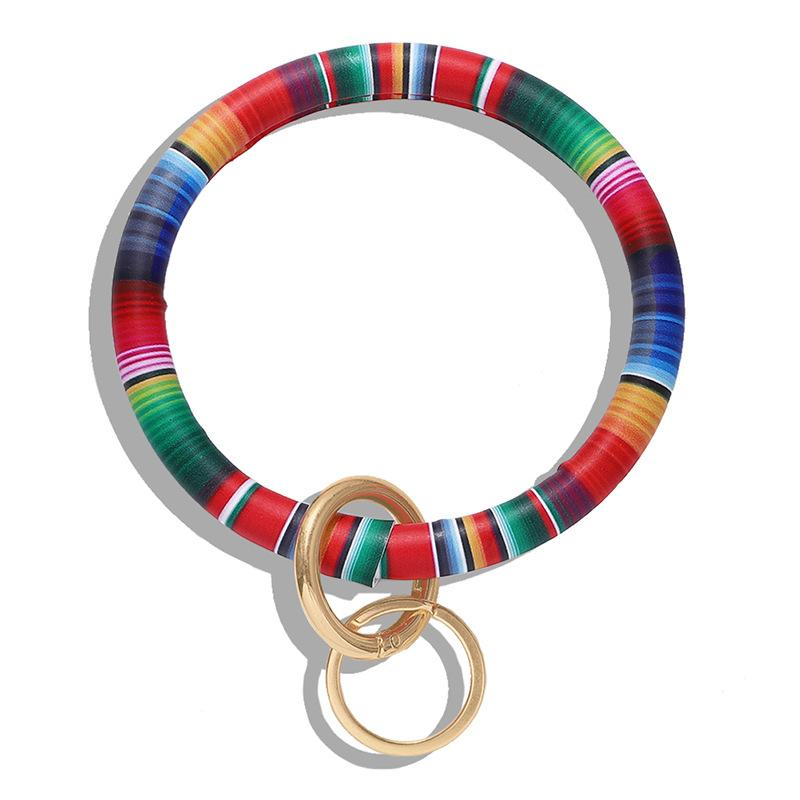 Stampa del braccialetto del braccialetto del braccialetto del braccialetto Uomo Donna Hip Hop Bangles Keys Keys Catene PU Puo in pelle wristbands anelli 9 5Dm L1