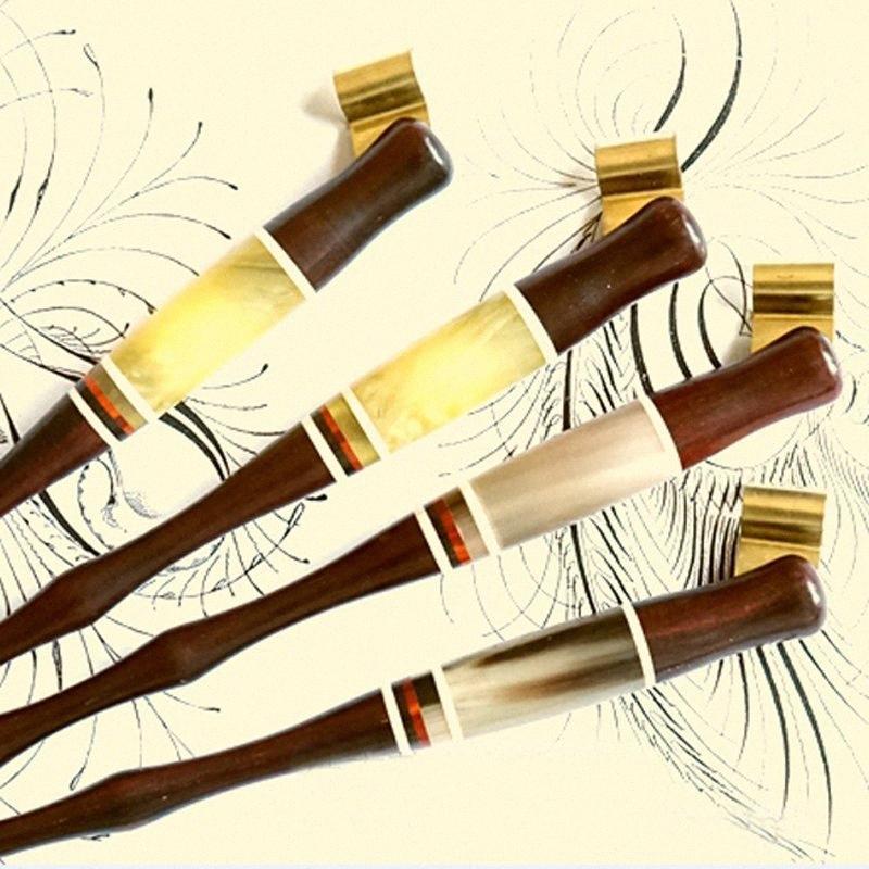 Wholesale-100 pedazos por la porción hecha a mano de madera sólida Copperplate Script del antiguo oblicua Dip titular de la pluma del mejor regalo de la caligrafía Dip Pen kwVW #