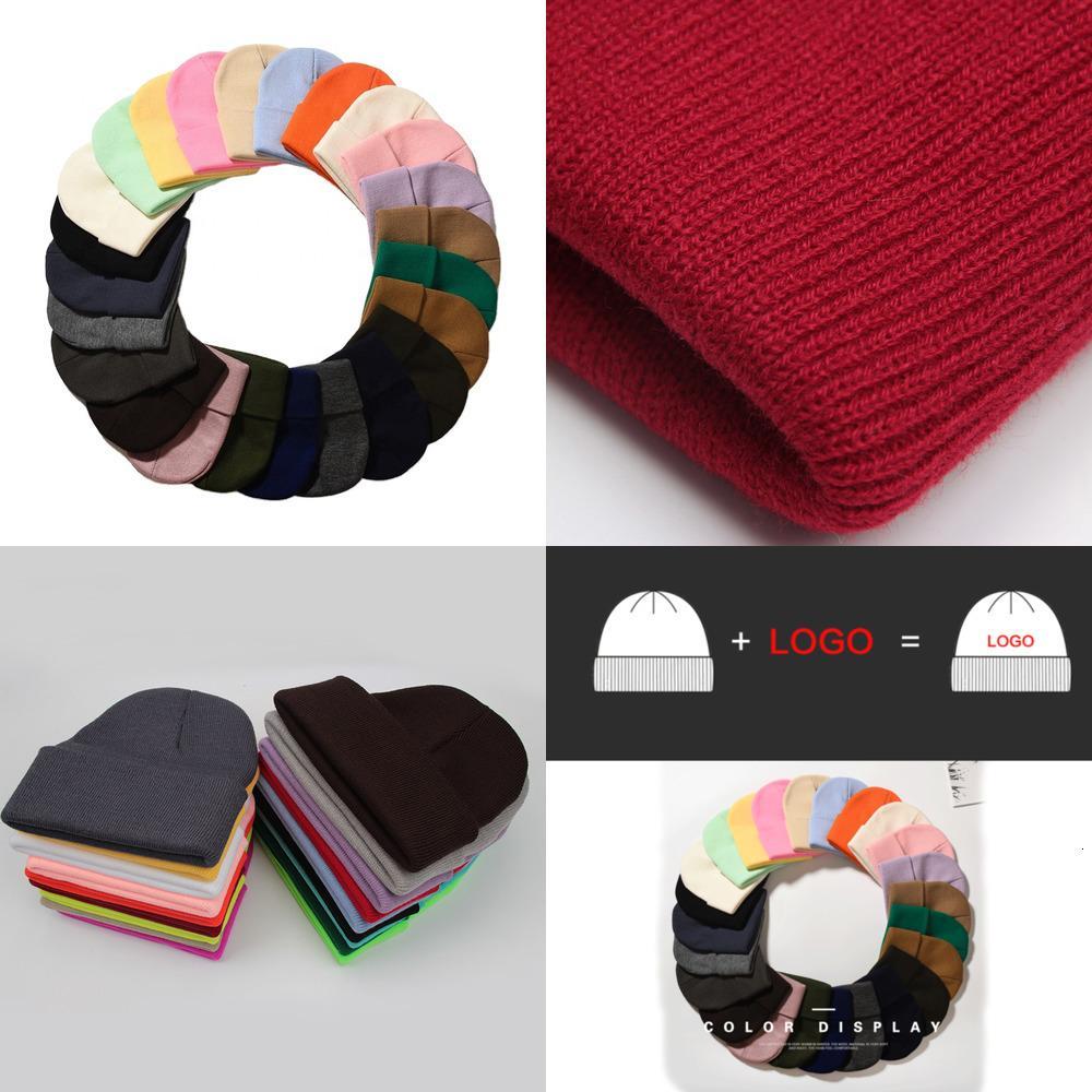 Plain Blank Custom Acrylic Winter Knitted Hat Cap Beanie 0ZNM