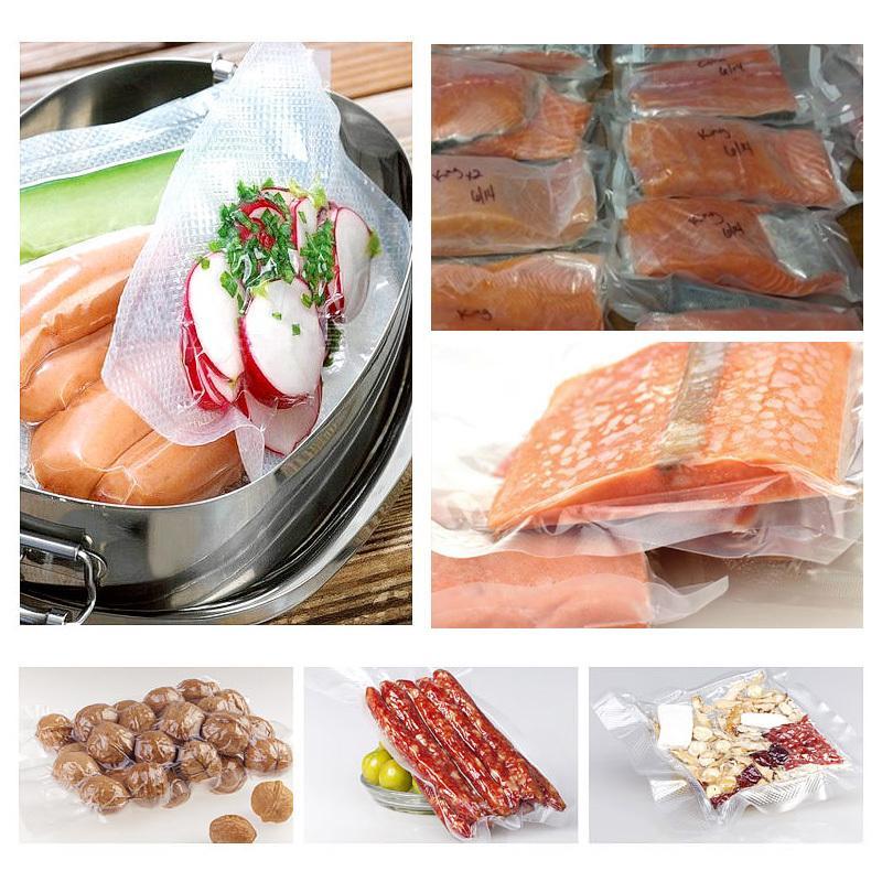 Kitchen Food Vacuum Bag Storage Bags for Vacuum Seal Food Fresh Long Keeping 12 15 20 25 28cm * 500cm 5 Rolls/Lot Free Shipping