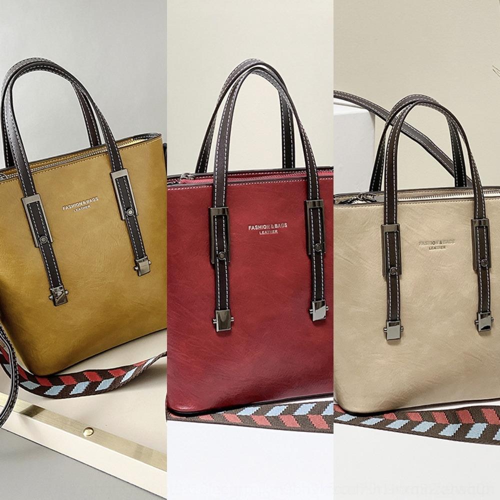Automne 2020 lkc9l nouvelle couleur contraste 2y5u1 polyvalent grand sac à main d'épaule des femmes de la capacité unique de messagerie handbaghandbag de Bucke