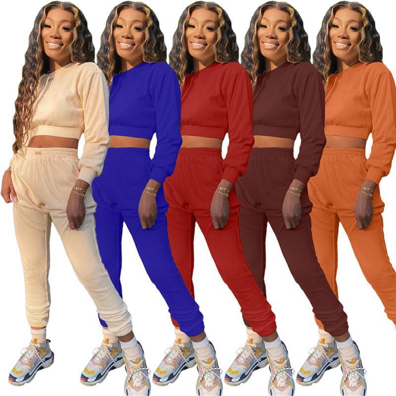 manches longues des femmes 2 pièce ensemble survêtement de jogging Sportsuit costume pantalon sweat-shirt tenues leggings chemise sport DHL