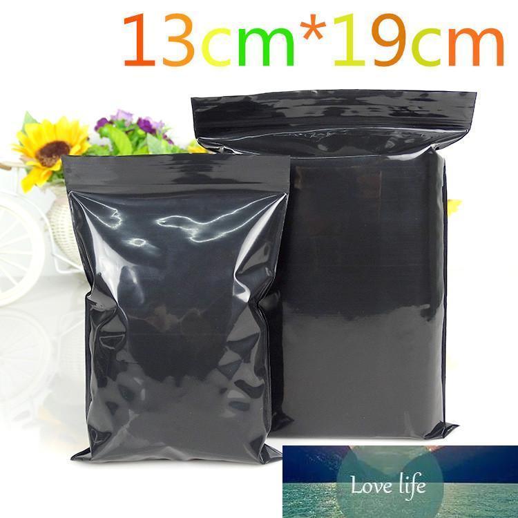 """13 * 19cm (5.1 """"* 7.5"""") 100Pcs / Lot refermable Noir Event Emballage Paquet Poly Sac auto Joint en plastique d'emballage Pouch"""