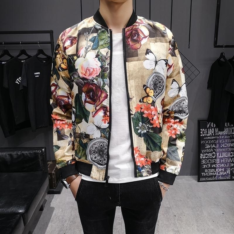 Streetwear Chaqueta Hombre de Hip Hop de los hombres adelgazan la chaqueta de bombardero piloto collar del soporte de las capas Masculino 2020 Ropa de Hombre