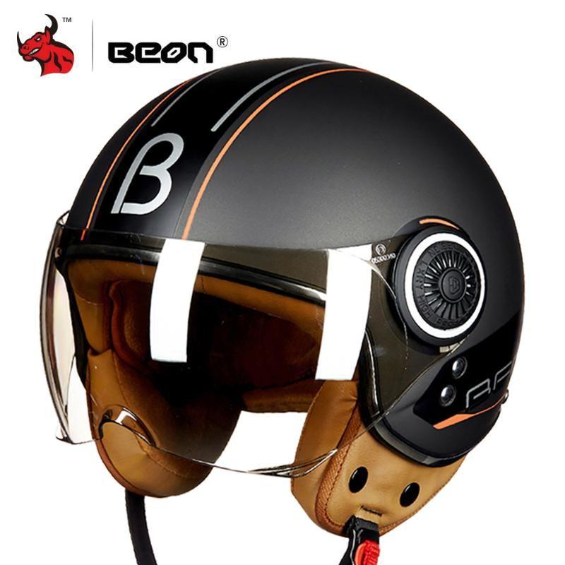 BEON casco de la motocicleta Chopper 3/4 de la vendimia Open Face casco de Moto Moto Casco Casque Capacete Hombres Mujeres Moto Vespa