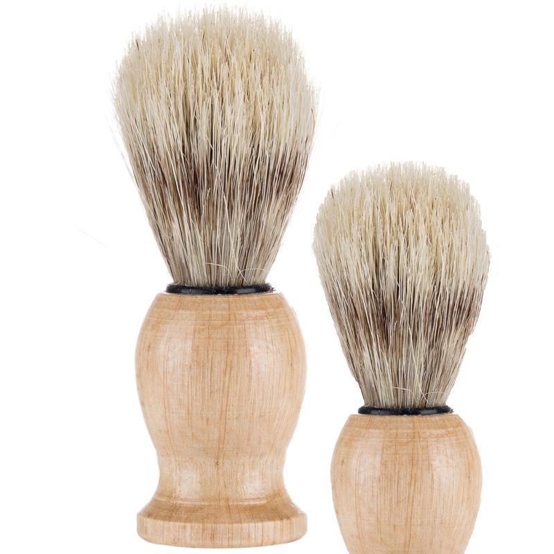 NYLON Твердая древесина Борода Кисть Человек Мужской щетины Бритвенные инструменты для бритья Щетки Душевая комната аксессуары чистого 5WM N2