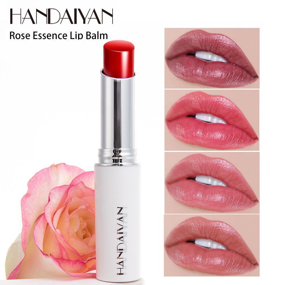 장미 에센스 착용 립밤 에센셜 오일 보습 영양가있는 수리 오래 지속되는 립스틱 자연 입술 관리 메이크업