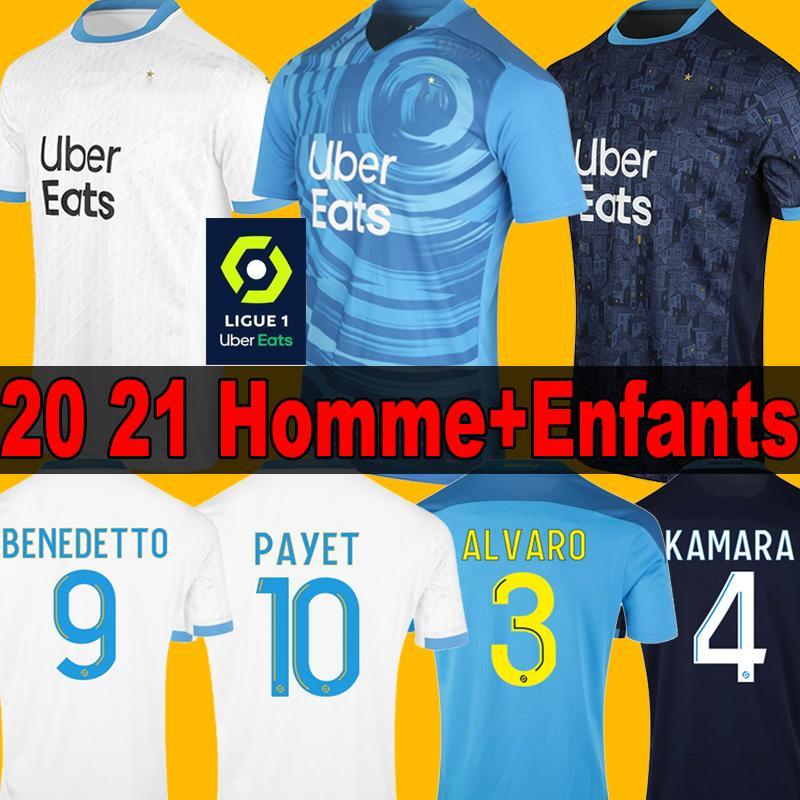 20 21 Олимпика футбол Джерси 2020 2021 Пайе THAUVIN 120-й годовщины мужчины + дети maillots де футбола