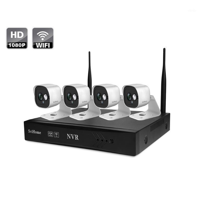 Cámaras Sricam 2MP Mini red grabadora de video 1080P Apariezo al aire libre 4-8 canales NVR Kit inalámbrico Sistema de vigilancia de seguridad1