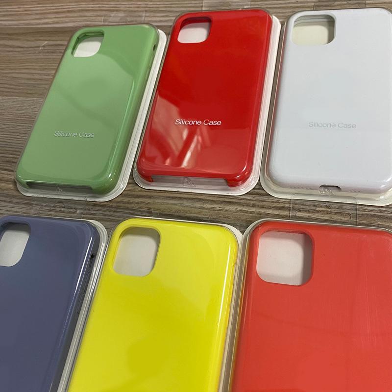 Nie pełne okładki Oficjalny Ciecz Stały Gel Silikonowy Pokrywa Case dla iPhone'a 12 Mini 12 Pro Max 250 sztuk / partia Blister Pack