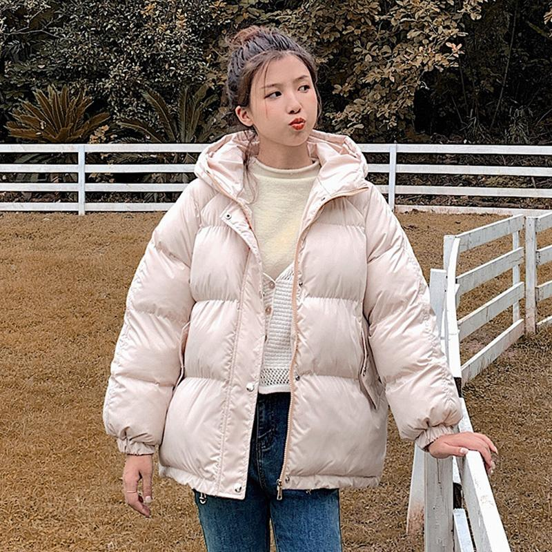 Fashion Warm Thick Winter Jacket Women New Short Hooded Parka Casual Oversize Coat Female Office Lady 201016