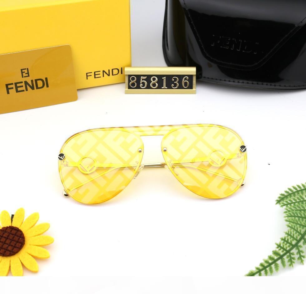 Fendi Mens Designer Occhiali da sole Designer Designer Glasses Oversized Men Des Lunettes de Soleil Occhiali da sole Aviator Aviatore Aviator Aviator Eye