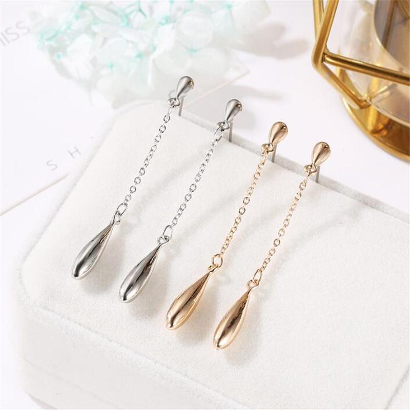 Серьги с каплями люстры болтаются для женщин длинные цепные кисточки ушной линии серьги мода девушки ювелирные подарки
