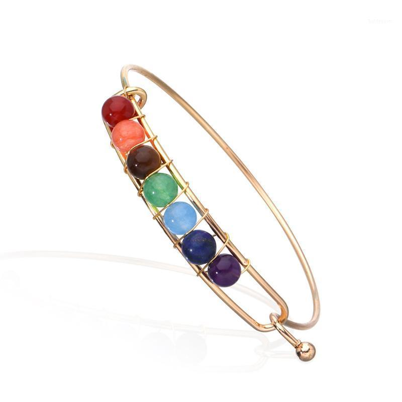 VIYVES Charm Adjustable Lucky Colorful Stone Bracelet Fashion DIY Bracelet Crystal Bead Woman Bangle Jewelry Party Gift1