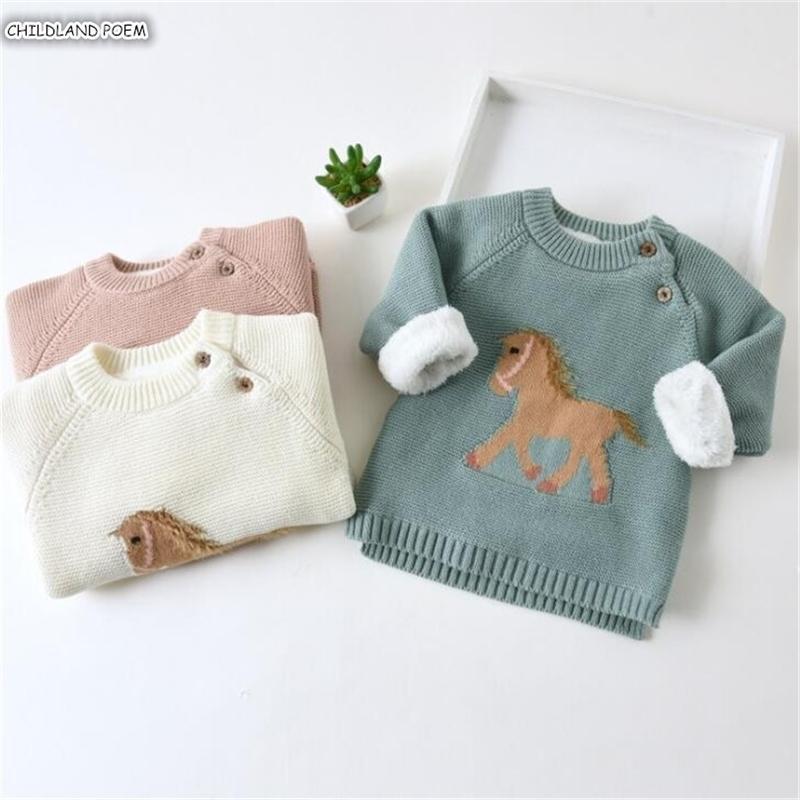 Детский свитер новорожденных мальчиков свитера толстые флисовые детки свитера малыша кардага вязаные детские одежды девушки свитер 201104