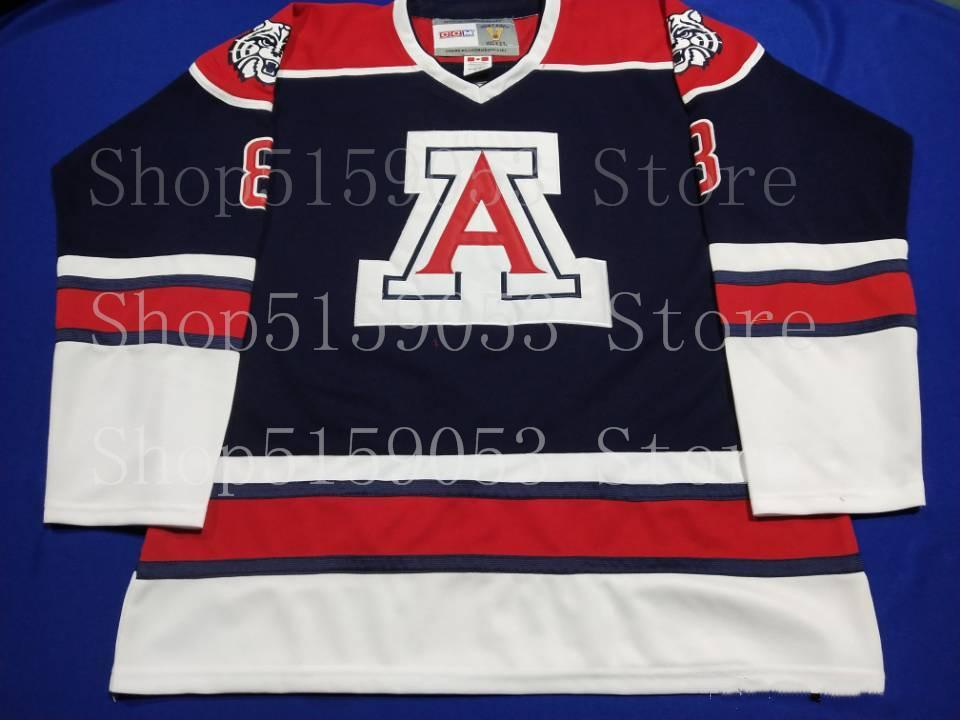 University of Arizona Wildcats Hockey Jersey Embroidery Stitched Customize any number and name Jerseys