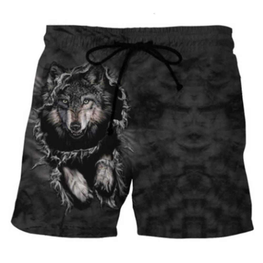Shorts de praia rápida de novos homens 3D impressão criativa estilo casual com bolsos de lado curto
