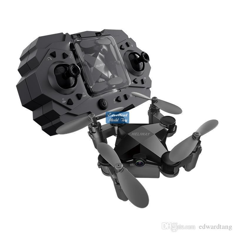 EMT MNI4 HD-Kamera FPV Mini-Drohne, Junge Spielzeug, Simulatoren, Fernbedienung Flugzeuge, Höhe Hold, 2-Gänge-Geschwindigkeit, Flugbahnflug Quadcopter, Weihnachtskind-Geschenk, 3-1